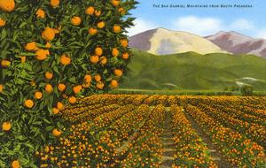 San Gabriel Mountains from South Pasadena, California