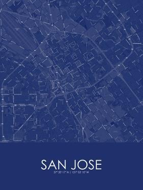 San Jose, United States of America Blue Map