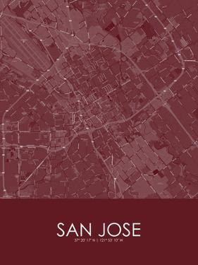 San Jose, United States of America Red Map