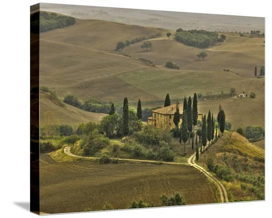 San Quirico Villa-Richard Desmarais-Stretched Canvas Print