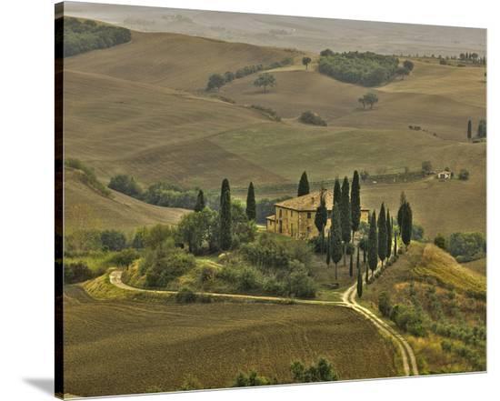 San Quirico Villa-Richard Desmarais-Stretched Canvas