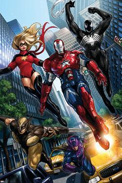 Ms. Marvel No.44 Group: Iron Patriot, Wolverine, Hawkeye, Ms. Marvel and Spider-Man by Sana Takeda