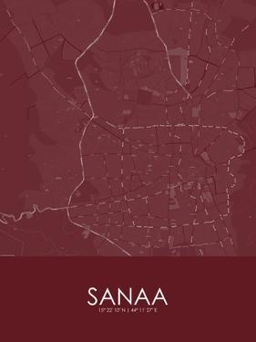 Sanaa, Yemen Red Map