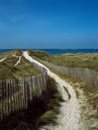 Sand dunes on beach, Abers Coast, Finistere, Brittany, France