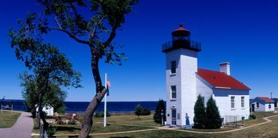 Sand Point Lighthouse in Escanaba, Michigan, USA