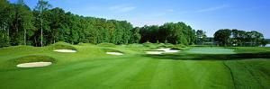 Sand Traps in a Golf Course, River Run Golf Course, Berlin, Worcester County, Maryland, USA