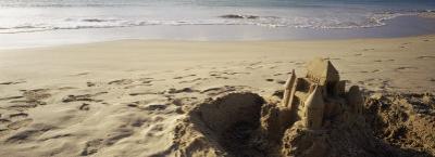 Sandcastle on the Beach, Hapuna Beach, Big Island, Hawaii, USA