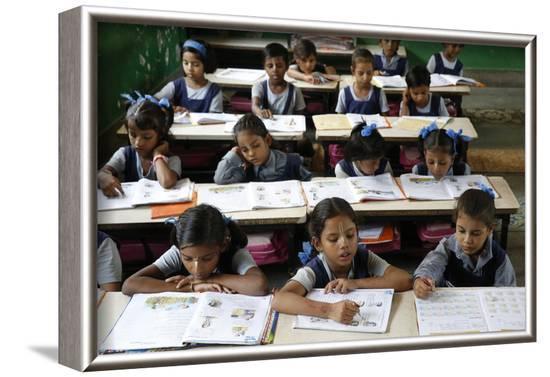Sandipani Muni School for needy girls run by Food for Life, Vrindavan, Uttar Pradesh, India-Godong-Framed Photographic Print