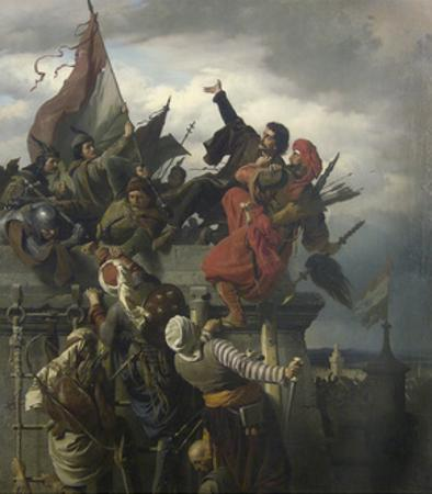 The Self-Sacrifice of Titusz Dugovics, 1859 by Sándor Wagner