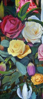 Baroque Flower Triptych II by Sandra Iafrate