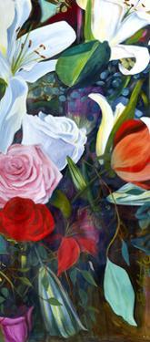 Baroque Flower Triptych III by Sandra Iafrate