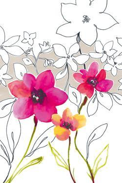 Croquis Floral III by Sandra Jacobs