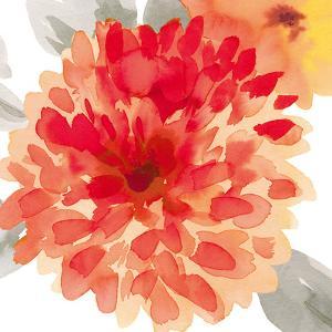Peach Flower I by Sandra Jacobs