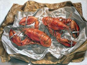 Lobsters, 1981 by Sandra Lawrence