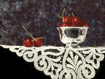 Bowl of Cherries with Lace by Sandra Willard