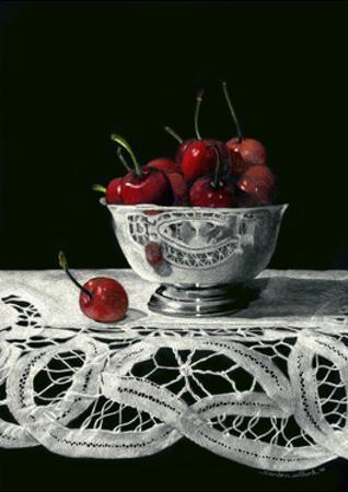 Bowl of Cherries by Sandra Willard