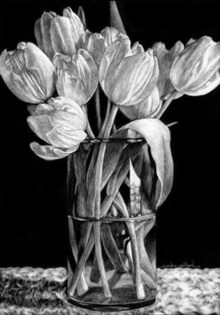 Nine Tulips by Sandra Willard
