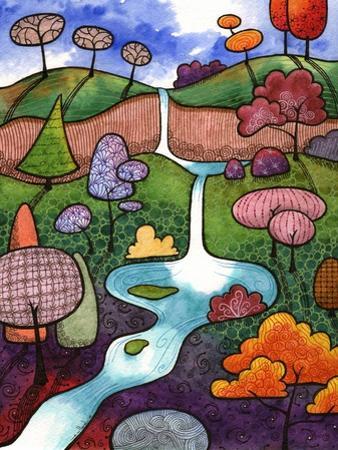 Peaceful Waterfall by Sandra Willard