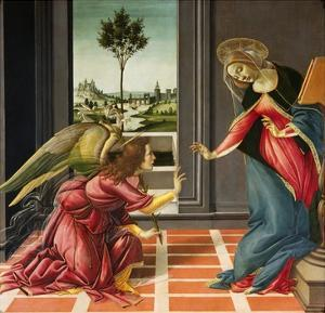 Annunciation (1489-1490) by Sandro Botticelli