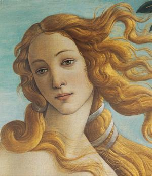 Birth of Venus, Head of Venus by Sandro Botticelli