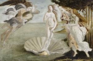Copie d'après Botticelli : Naissance de Vénus (Offices, Florence) by Sandro Botticelli