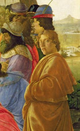 Detail of the Adoration of the Magi by Sandro Botticelli
