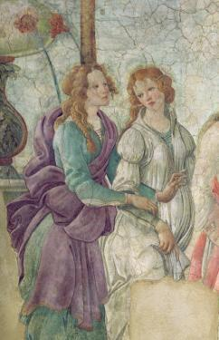 Detail of Venus and the Graces offering Gifts to a Young Girl, 1486 by Sandro Botticelli