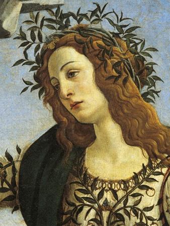 Figure of Minerva, Detail from Pallas Taming Centaur, Circa 1482 by Sandro Botticelli