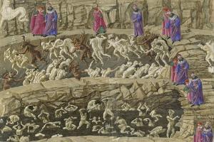 Illustration to the Divine Comedy by Dante Alighieri, 1480-1490 by Sandro Botticelli