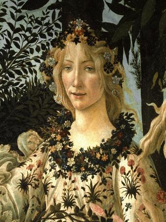 La Primavera .Detail of Spring c.1477-1490.