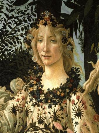 La Primavera .Detail of Spring c.1477-1490. by Sandro Botticelli