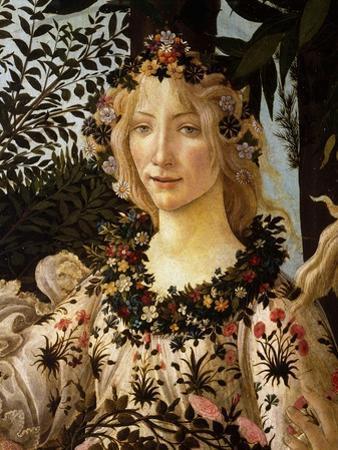 La Primavera, Spring, Detail of Spring, Flora, c.1475 by Sandro Botticelli