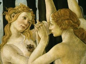La Primavera (Spring) Detail of Two of the Three Graces c.1475 by Sandro Botticelli