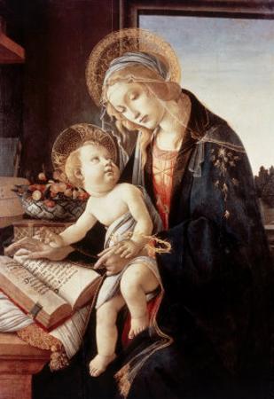 Madonna Del Libro by Sandro Botticelli