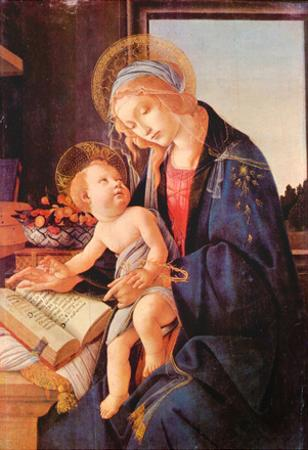 Sandro Botticelli Madonna Teaches the Child Jesus Art Print Poster
