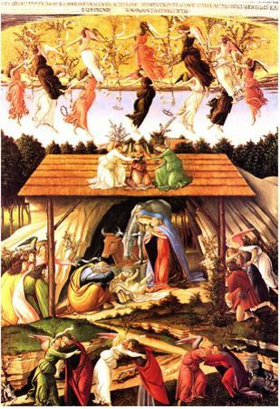 Sandro Botticelli Nativity 1500 Art Print Poster