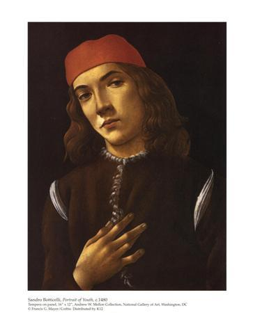 Portrait of Youth by Sandro Botticelli