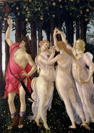 Primavera: Detail of the Three Graces and Mercury by Sandro Botticelli