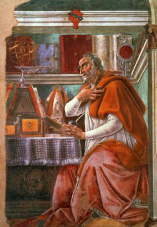 St.Augustine in His Cell, circa 1480 by Sandro Botticelli