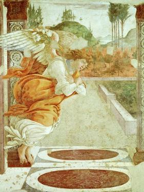 The Angel Gabriel, from the Annunciation, Fresco, C.1481, Detail by Sandro Botticelli