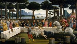 The Story of Nastagio degli Onesti (III), ca. 1483 by Sandro Botticelli