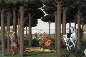 The Story of Nastagio Degli Onesti (Second Episode), Ca 1483 by Sandro Botticelli