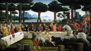 The Story of Nastagio Degli Onesti (Third Episode), 1483 (From Boccaccio's Decameron) by Sandro Botticelli