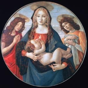 The Virgin and Child with Saint John and an Angel, C1490 by Sandro Botticelli