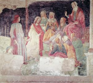 Young Man Greeted by Seven Liberal Arts, from the Villa Lemmi by Sandro Botticelli