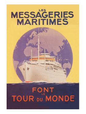 Take a Cruise Around the World with les Messageries Maritimes by Sandy Hook