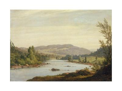 Landscape with River (Scene in Northern New York), 1849