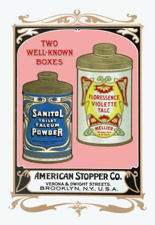 Sanitol Talcum Powder and Floressence Violette Talc