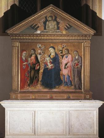 Madonna and Child with Saints and Christ in Pieta, 1461-63