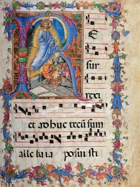 Miniature depicting the Resurrection by Sano di Pietro